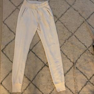 WILDFOX Cream/White Jogger Sweat Pants